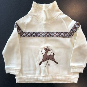 Vintage 70's Wonderall Toddler Christmas Sweater